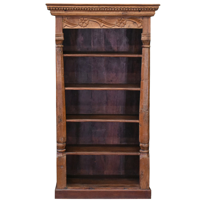 Artifact Collection Carved Column Bookcase - One of a Kind