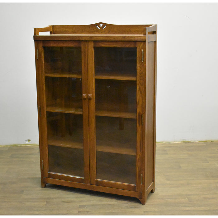 Mission Bookcase / Curio Cabinet - Walnut (W1)
