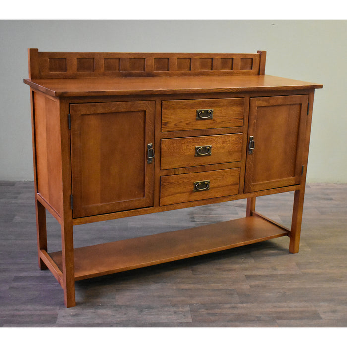 Mission Turner Sideboard with 3 Drawers and 2 Doors - Michael's Cherry (MC-A) - 58""