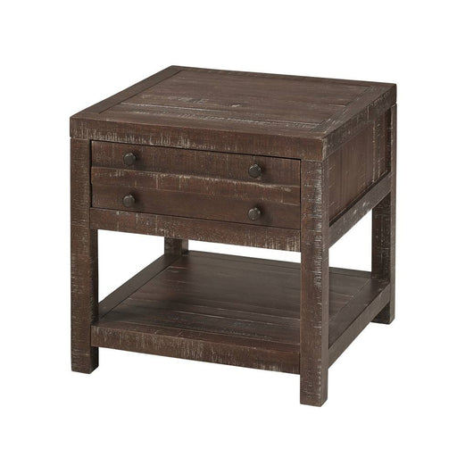 Emery Rustic 1 Drawer End Table - Crafters and Weavers