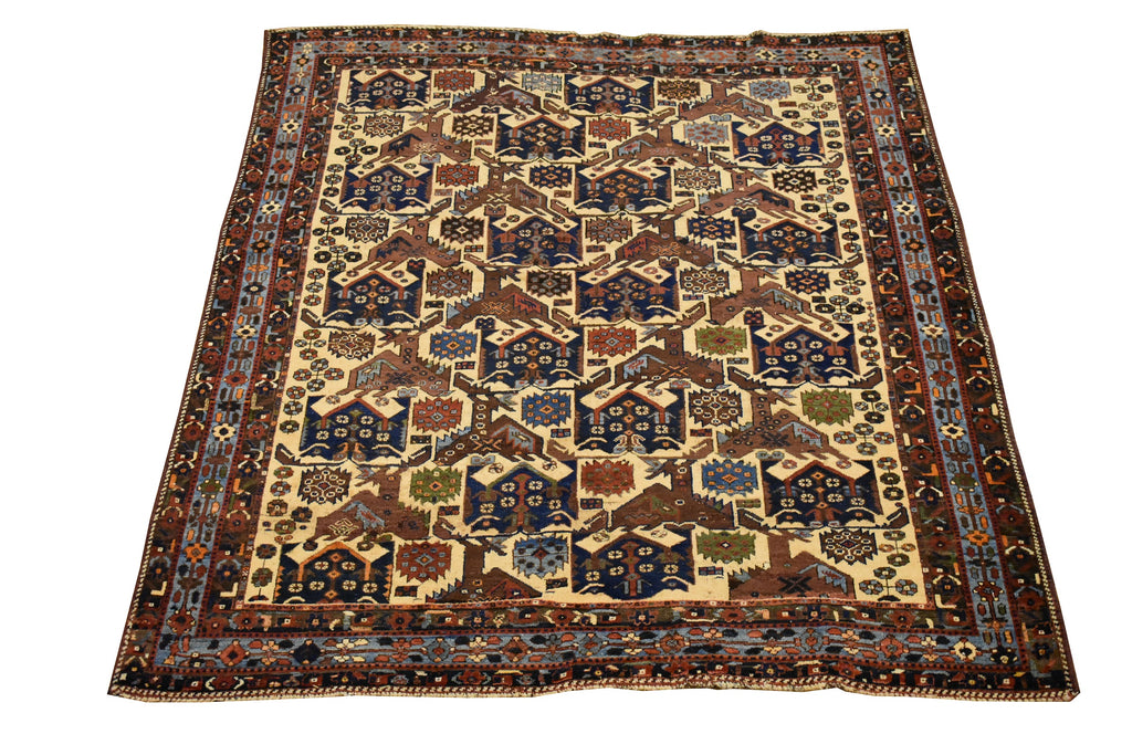 "Antique Persian rug / Oriental Rug 5'2"" x 6'2"""