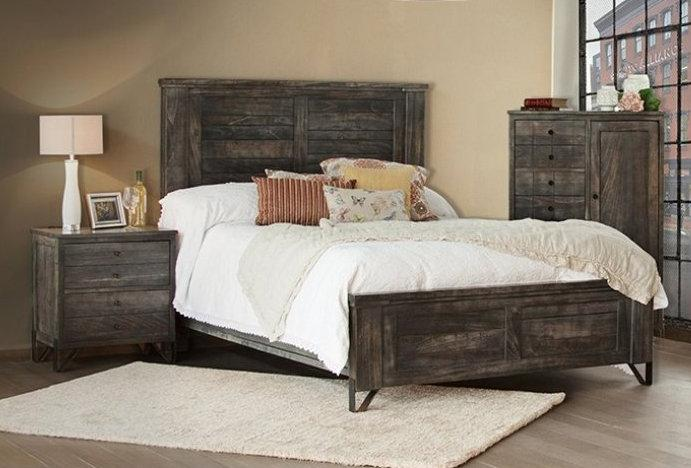 Sawyer Parota Wood Bed - Crafters and Weavers