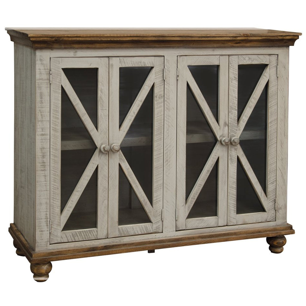 Bayshore 4 Door Crossbar Sideboard - Gray