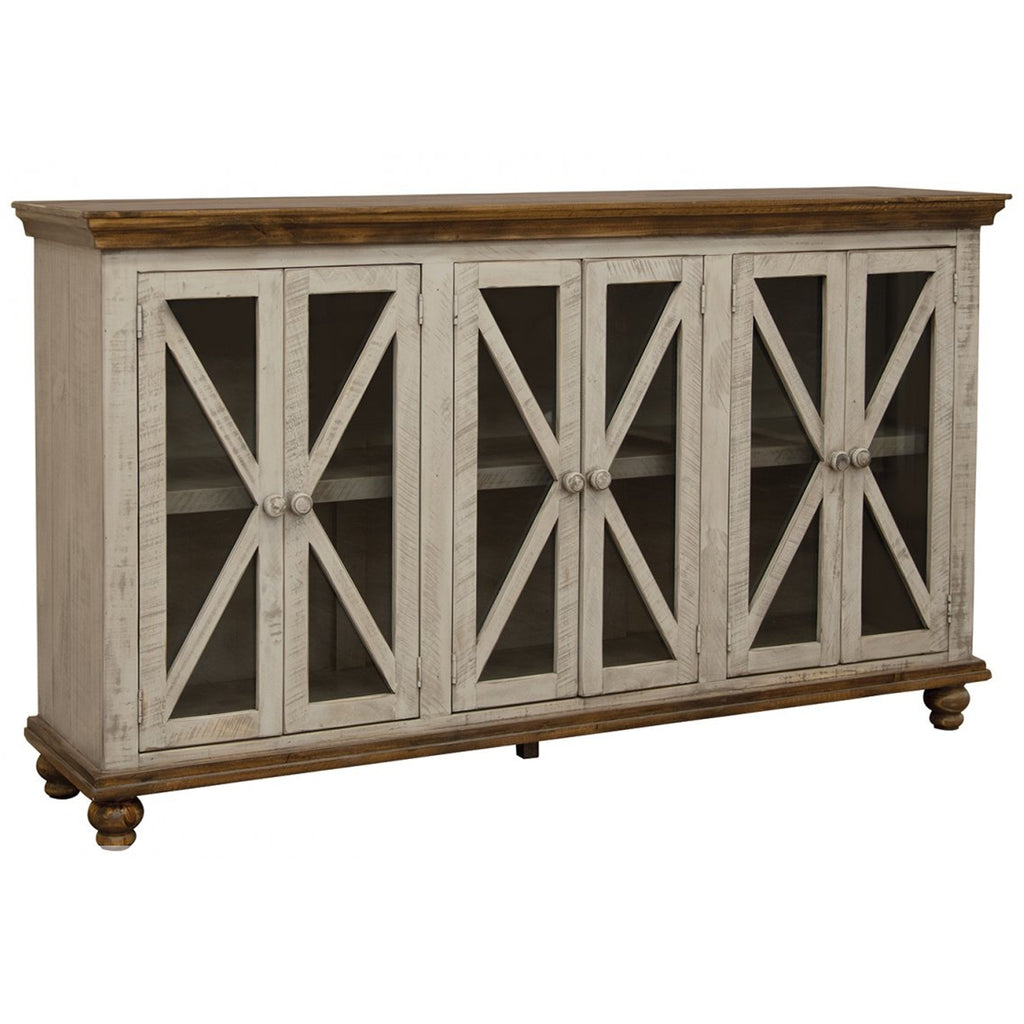 Bayshore 6 Door Crossbar Sideboard - Gray
