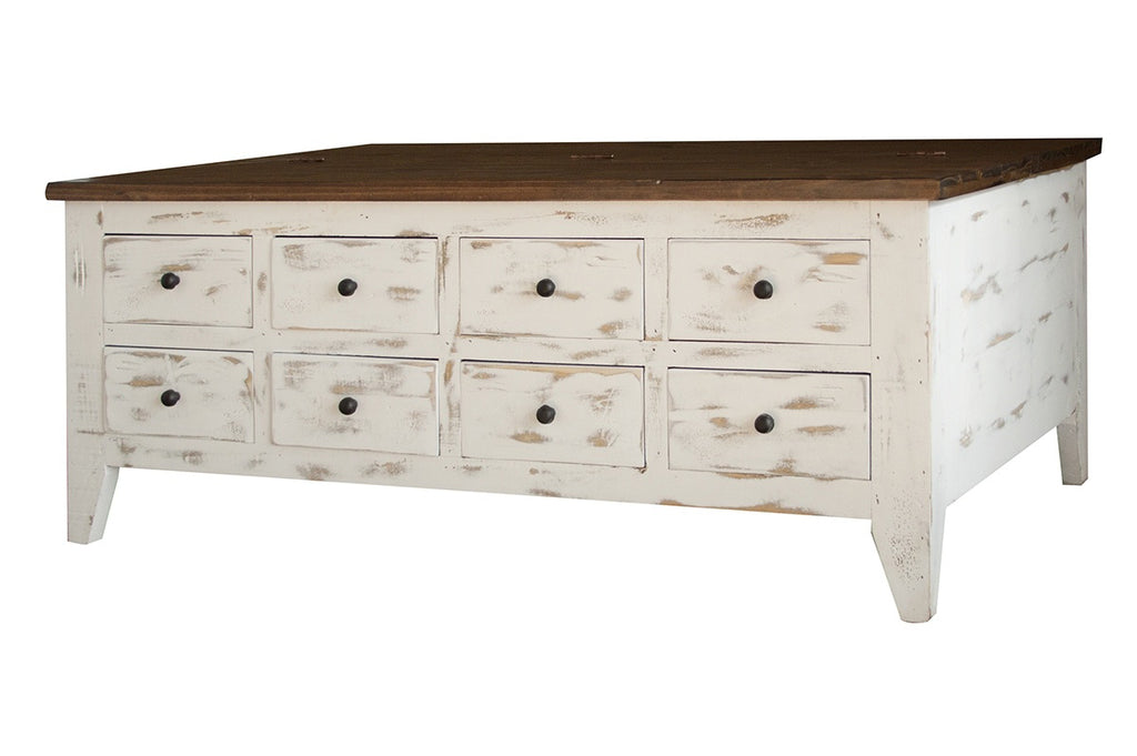 Greenview Mod Coffee Table - Distressed White