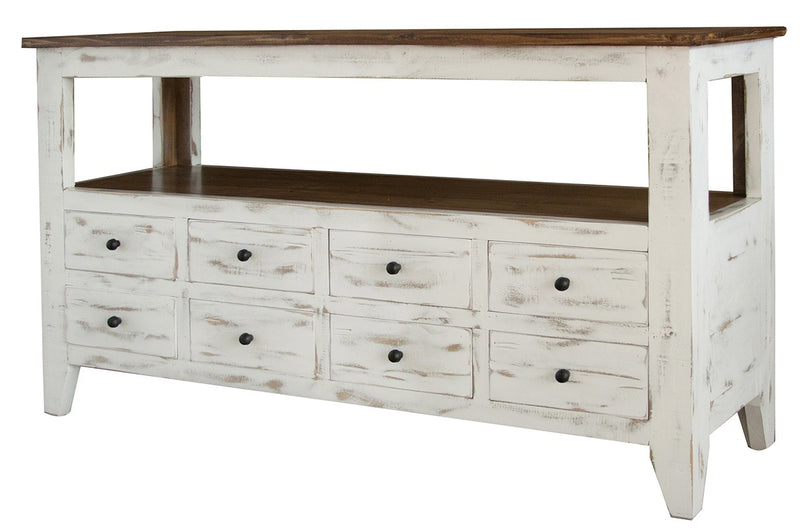 Greenview Mod Console Table - Distressed White
