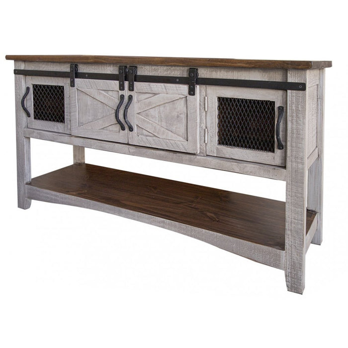 Greenview Sliding Door Console Table - Gray
