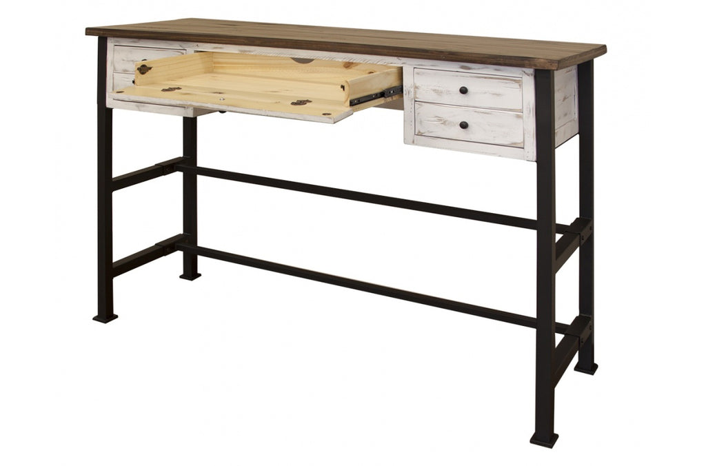 "Greenview Mod 42"" High Desk - Distressed White"