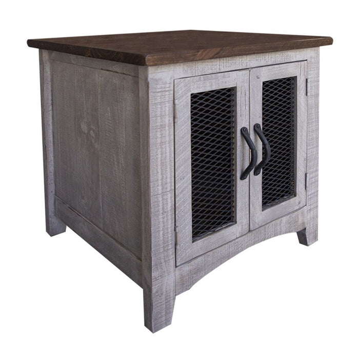 Greenview Two Door End Table - Gray
