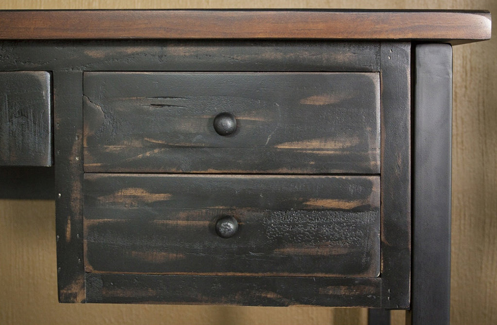Greenview Mod Writing Desk - Distressed Black