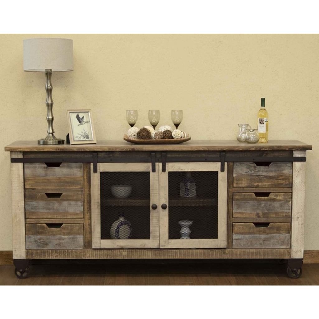 Bayshore Sliding Door TV Stand - 80""