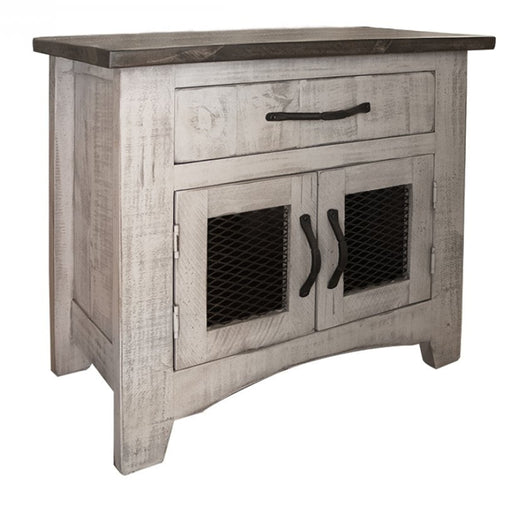 Greenview 2 Door Nightstand - Gray - Crafters and Weavers