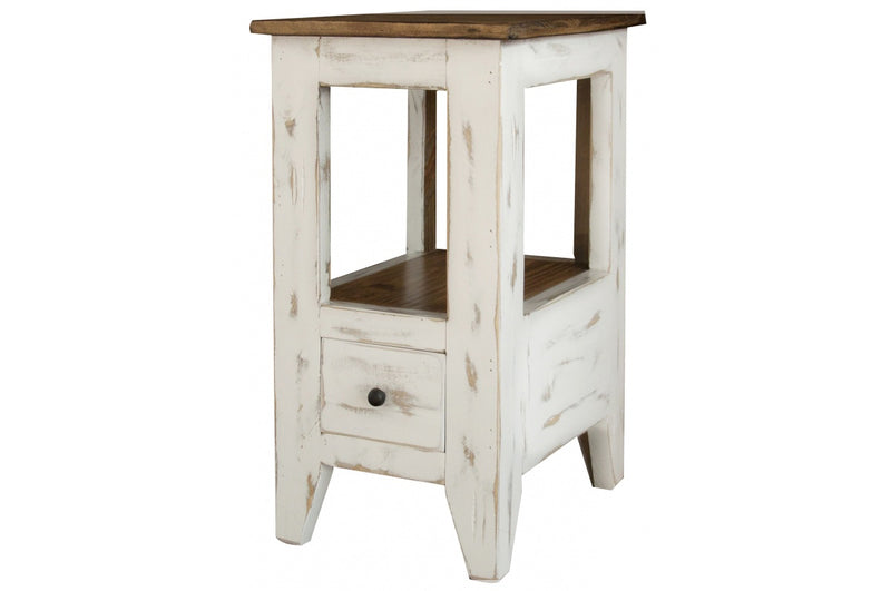 Greenview Mod Side Table - Distressed White