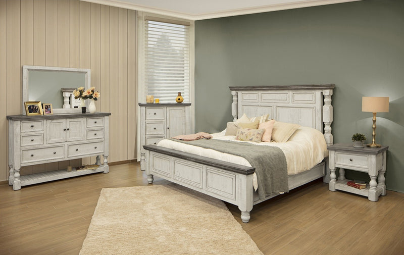 Atlantic Sliding Door Bedroom 5 Piece Set
