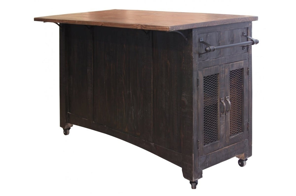 ... Greenview Kitchen Island   Distressed Black ...