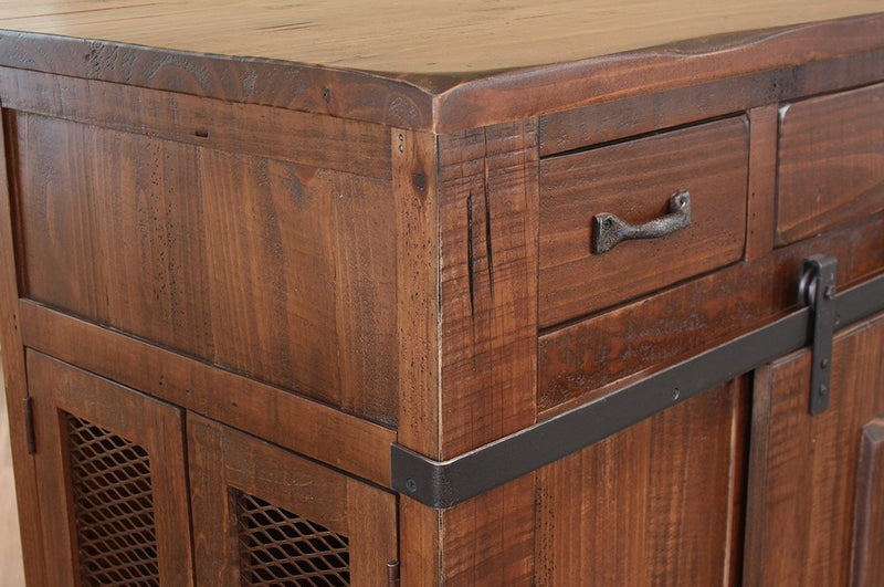 Greenview Kitchen Island - Rustic Brown - Crafters & Weavers - 8