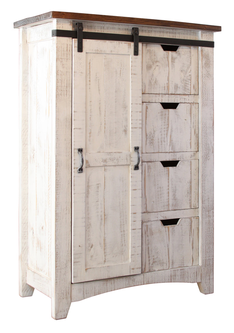 Greenview Carved Panel Gentleman's Chest - Distressed White