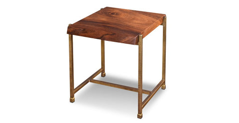 Granville Parota Edge End Table - Crafters & Weavers - 1