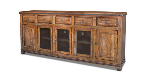 Addison Rustic 82 inch TV Stand / Sideboard - Dark