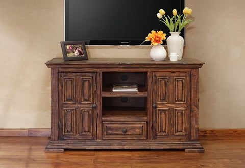 Greenview 55 inch Distressed TV Stand - Crafters & Weavers - 1
