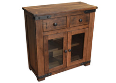 Granville Parota Wood Entry Cabinet - Crafters & Weavers - 1