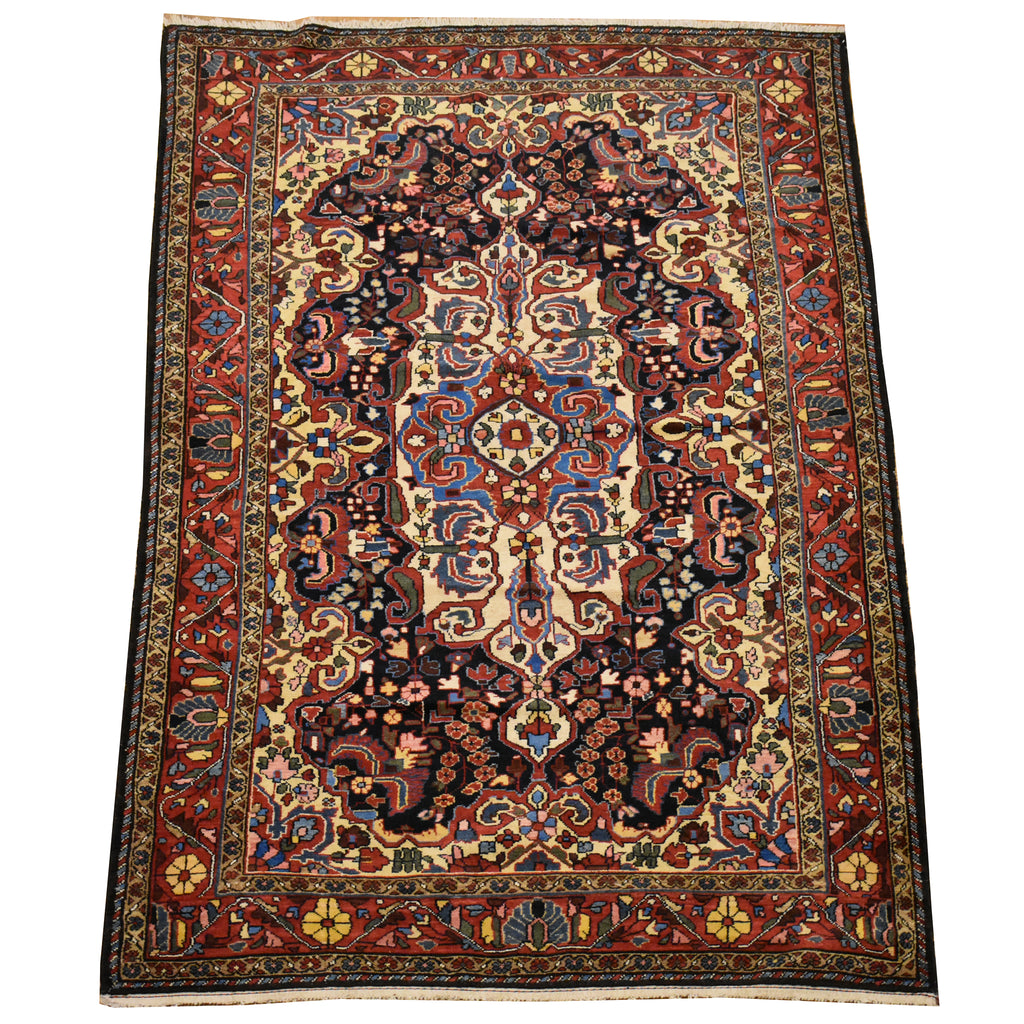"Antique Persian Tabriz / Oriental Rug 4'7"" x 6'10"""
