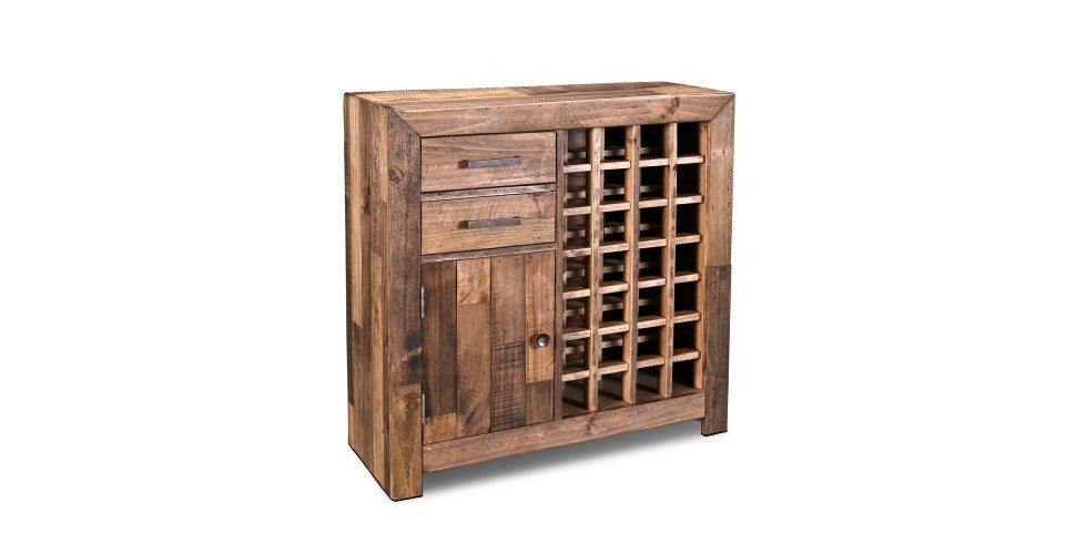 Fulton Wine Rack / Liquor Cabinet - Crafters And Weavers In Business For Almost 20 Years In USA.