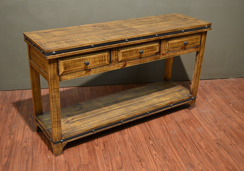 Addison 3 Drawer Console Table - Light