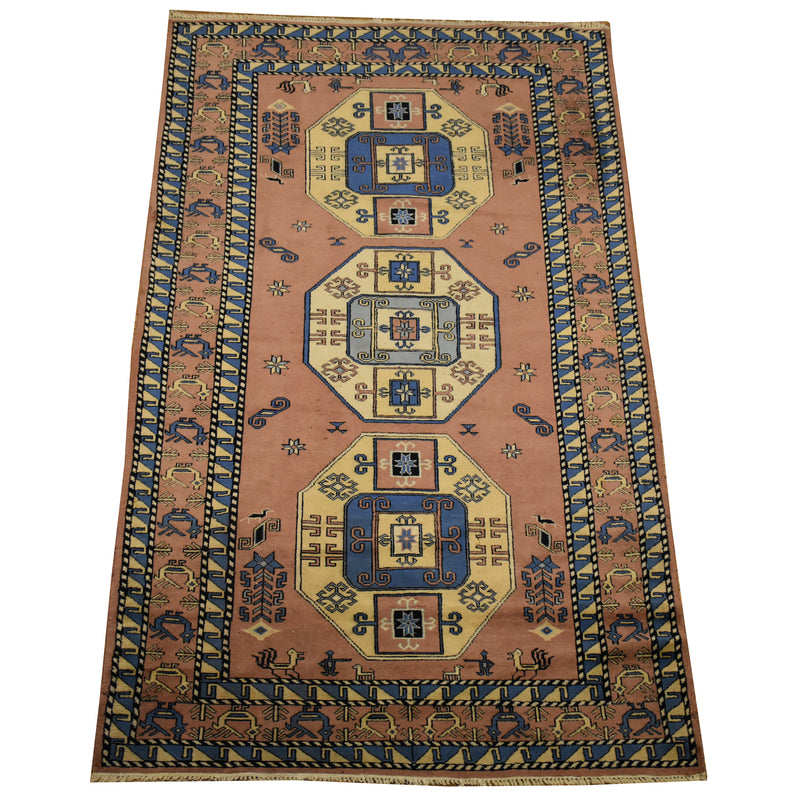 "Antique Chinese Deco / Oriental Rug 6'0"" x 8'7"""