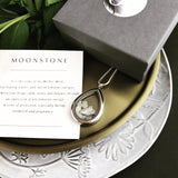 locket love ~ tear drop ~ moonstone