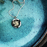 locket love ~ round ~ dalmatian stone