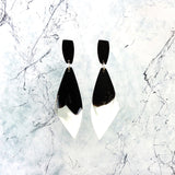 signature resin ~ wing drop earrings