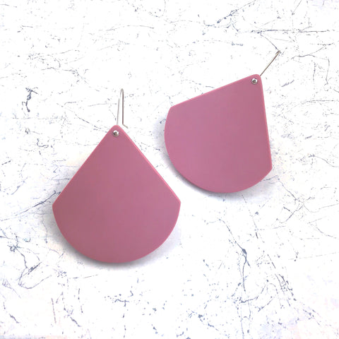 signature resin ~ XL earrings ~ dust pink