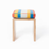 Small Stripes Cushion in Surf Van