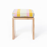 Small Stripes Cushion in Dusky Garden