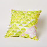 Triangle Print Pillow in Lilly.