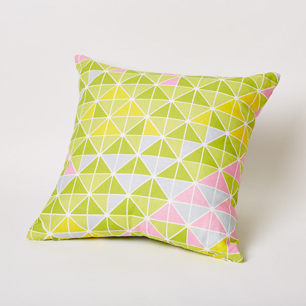 Triangle Print Pillow in Pond.