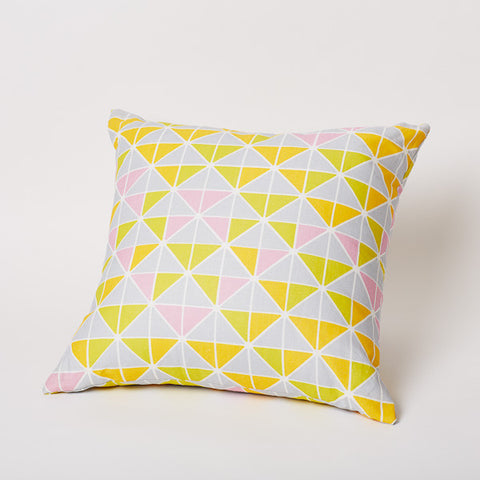 Triangle Print Pillow in Skydance.
