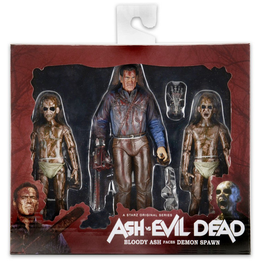 NECA Ash vs Evil Dead Bloody Ash vs Demon Spawn 3-pack