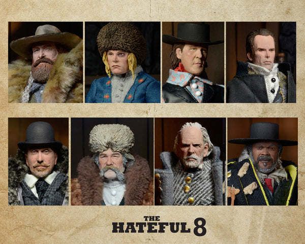 "NECA The Hateful Eight - Set of (8) Clothed 8"" Figures"