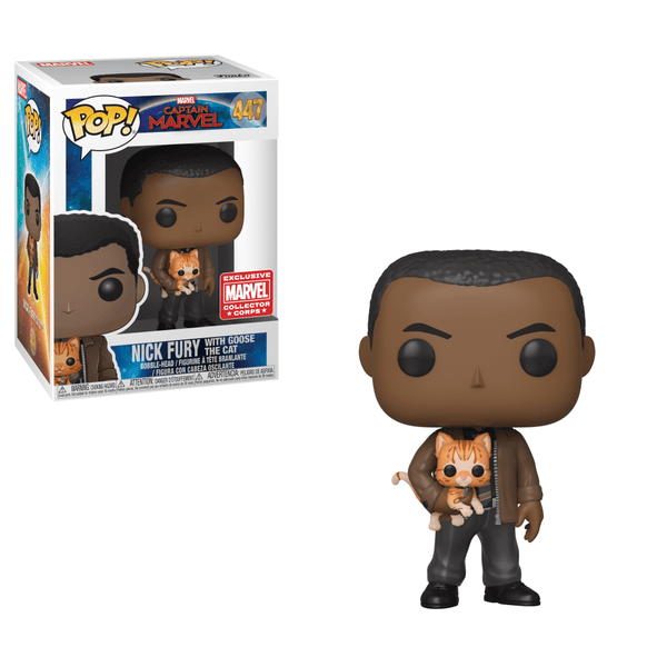 Pop! Captain Marvel 447: Nick Fury With Goose The Cat
