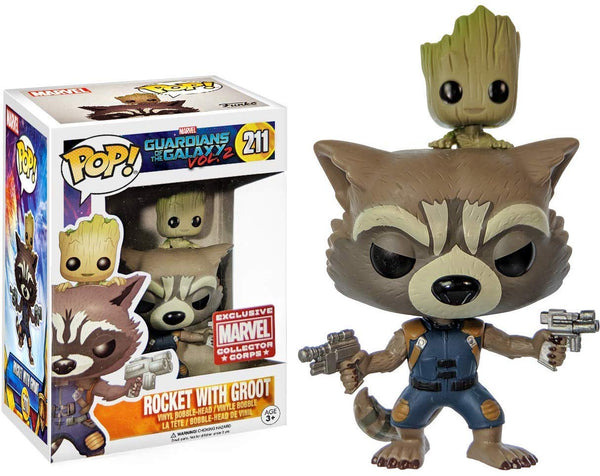 Pop! Guardians Of The Galaxy Vol.2 211: Rocket With Groot