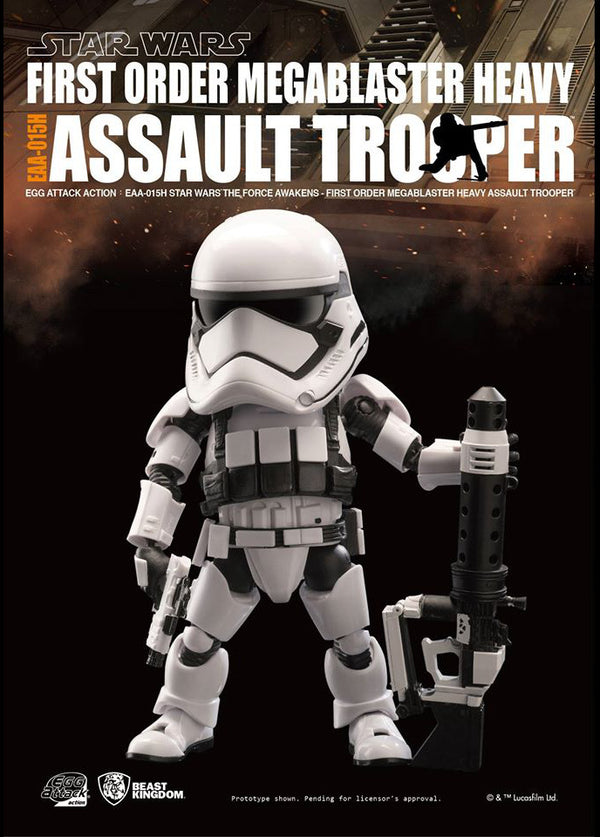 Egg Attack Action: EAA-015H Star Wars: The Force Awakens First Order Megablaster Heavy Assault Trooper
