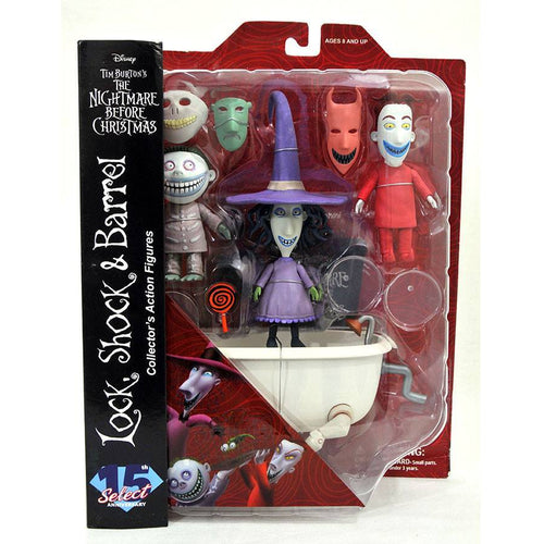 The Nightmare Before Christmas Select Lock, Shock and Barrel