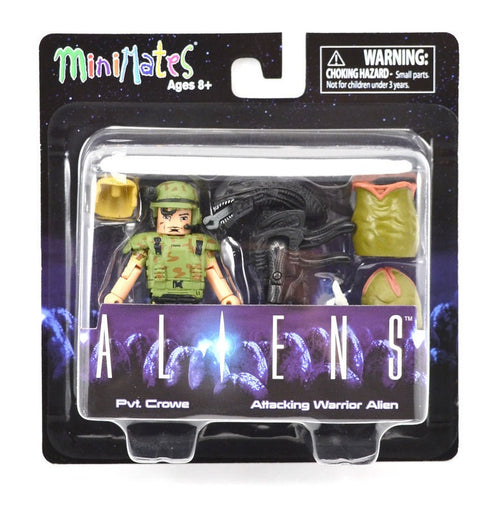 Minimates Aliens Pvt. Crowe with Attacking Alien and Eggs