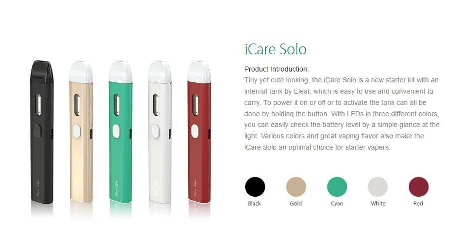 It's Nice to Ride Vaping Solo: ISMOKA ELEAF ICARE SOLO KIT