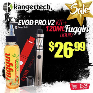 CHECK OUT THIS FUGGIN BUNDLE: KANGER EVOD PRO V2 STARTER KIT BUNDLE