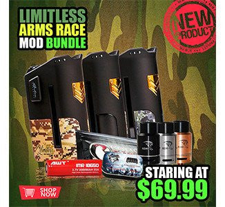 LIMITLESS ARMS RACE MOD + 120ML FUGGIN ELIQUID