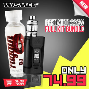 WISMEC PREDATOR 228W FULL KIT + 120ML FUGGIN ELIQUID