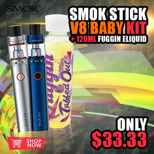 SMOK STICK V8 BABY KIT + 120ML FUGGIN ELIQUID